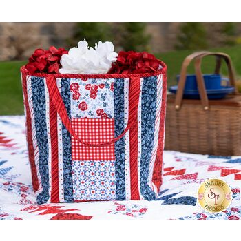 Quilt As You Go Insulated Shopper Tote Kit - Summertime