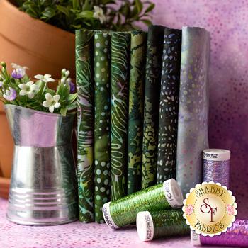 Bali Batiks Garden Gathering  8 FQ Set by Hoffman Fabrics