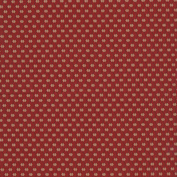 Bess' Flower Garden 0801-0157 Red Ogee by Pam Buda for Marcus Fabrics