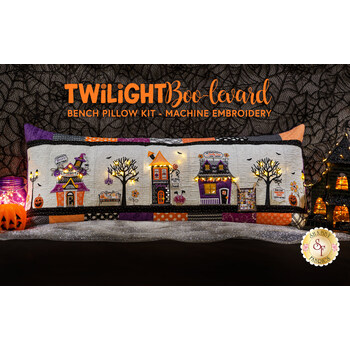Twilight Boo-levard Bench Pillow and Embellishing Kit - Machine Embroidery