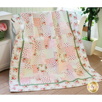 Easy As ABC and 123 Quilt Kit - Violet's Garden