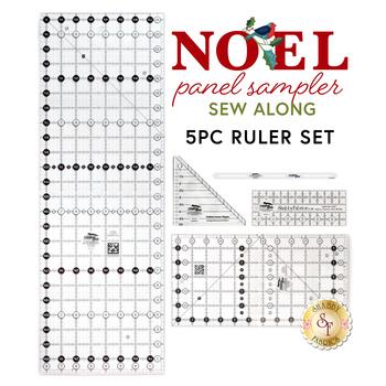 Noel Panel Sampler - Sew Along 5pc Ruler Set