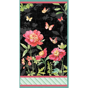 Pink Garden 86468-937 Panel by Lisa Audit for Wilmington Prints
