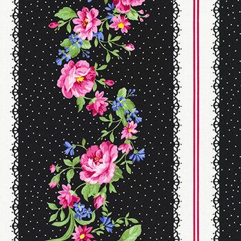 Pretty Sweet 20149-2 BLACK by Robert Kaufman Fabrics