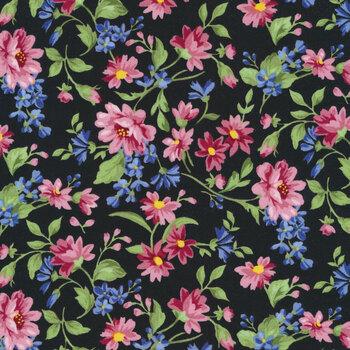 Pretty Sweet 20150-2 BLACK by Robert Kaufman Fabrics