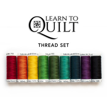 Learn To Quilt Series - Beginner Quilt Kit - 9pc Thread Set