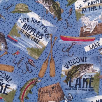 At The Lake C10550-Blue by Tara Reed for Riley Blake Designs