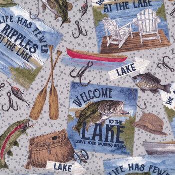 At The Lake C10550-Gray by Tara Reed for Riley Blake Designs