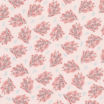 Cherished Moments CM20204 Berry Branches Pink by Poppie Cotton