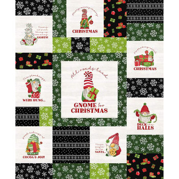Gnome for Christmas - Flannel FP10614-BLACK Panel by Riley Blake Designs