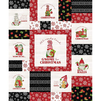 Gnome for Christmas - Flannel FP10614-RED Panel by Riley Blake Designs