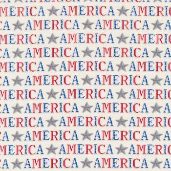 America the Beautiful 19983-12 White by Deb Strain for Moda Fabrics