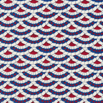 America the Beautiful 19984-12 White by Deb Strain for Moda Fabrics