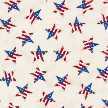 America the Beautiful 19988-12 White by Deb Strain for Moda Fabrics