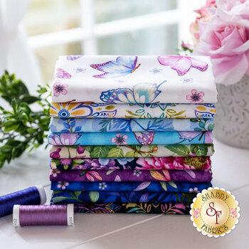 Gossamer Garden  10 FQ Set by Color Principle for Henry Glass Fabrics