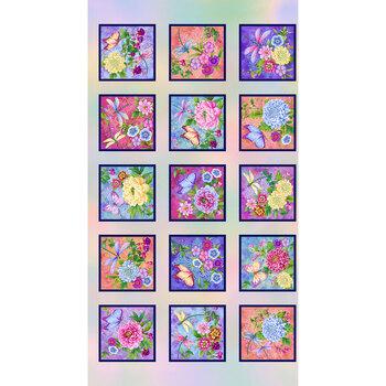 Gossamer Garden 2648-10 Pastel Panel by Color Principle for Henry Glass Fabrics