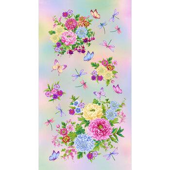 Gossamer Garden 2647P-10 Pastel Panel by Color Principle for Henry Glass Fabrics
