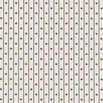 American Gathering 49126-12 Cream Navy by Primitive Gatherings for Moda Fabrics