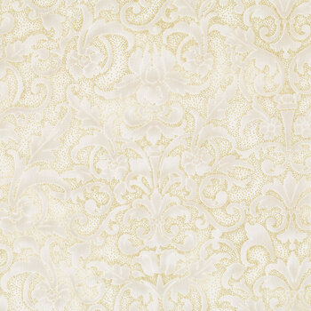 Joyful Traditions T7752-20G Natural/Gold by Hoffman Fabrics