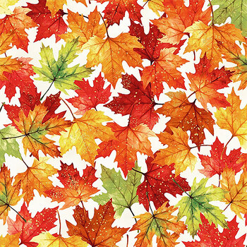 Autumn is in the Air T4855-116G Harvest Gold by Hoffman Fabrics