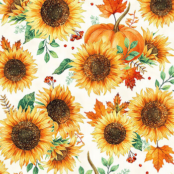 Autumn is in the Air T4853-116G Harvest Gold by Hoffman Fabrics