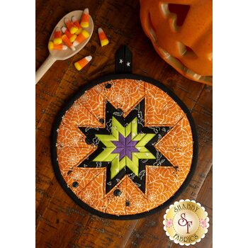 """Folded Star Hot Pad Kit - A Haunting We Will """"Glow"""" - Spider Webs"""