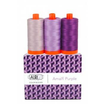 Aurifil Color Builder 3pc Set - Amalfi Purple
