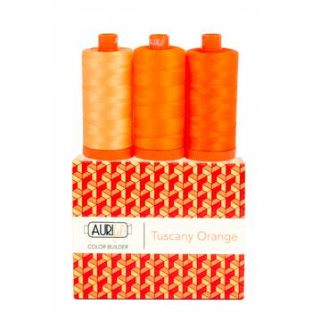 Aurifil Color Builder 3pc Set - Tuscany Orange