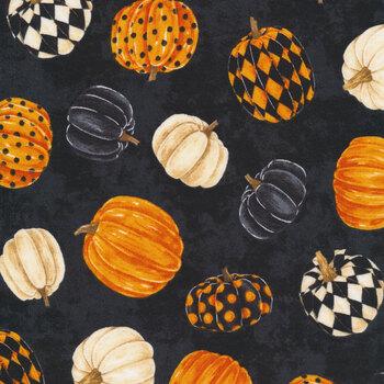 Black Cat Capers 24117-99 Black Pumpkins by Northcott Fabrics