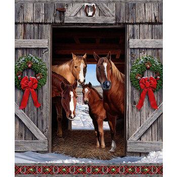 Hay... It's Christmas DP24104-99 Panel Multi by Northcott Fabrics