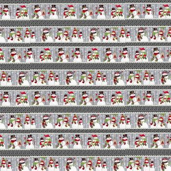 Snow Place Like Home Flannel F5713-98 Multi Border Stripe by Sharla Fults for Studio E Fabrics