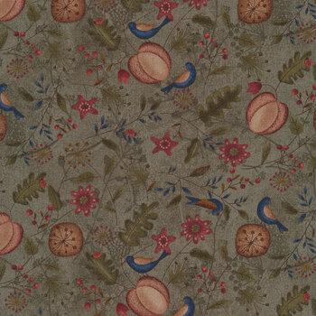 Blessings of Home 2679-66 Green Allover by Janet Rae Nesbitt for Henry Glass Fabrics REM