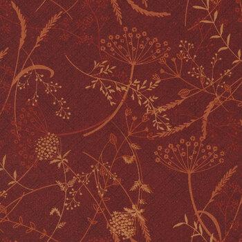 Blessings of Home 2682-88 Red Dandelion by Janet Rae Nesbitt for Henry Glass Fabrics REM