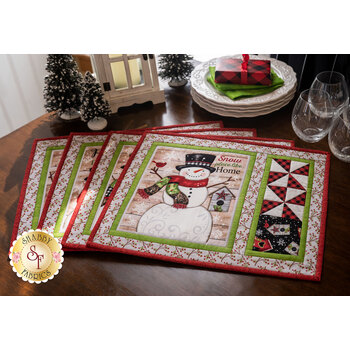 Snow Place Like Home Placemats Kit - Makes 4