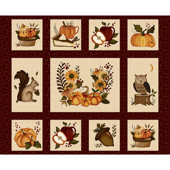 Hello Fall 2688P-88 Red Hello Fall Panel by Hannah West for Henry Glass Fabrics