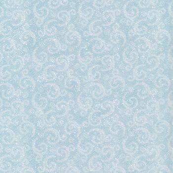 I Love Sn'Gnomies Flannel F9638-11 Aqua Swirl by Shelly Comiskey for Henry Glass Fabrics