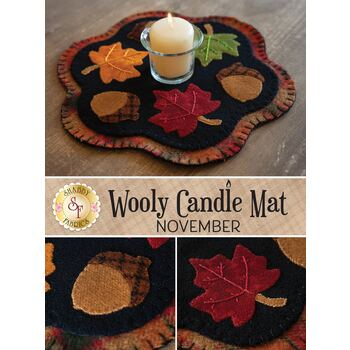 Wooly Candle Mat - November - Wool Kit