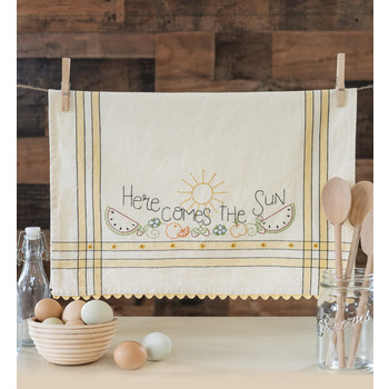 Vintage Kitchen Towel Kit - August - Here Comes The Sun