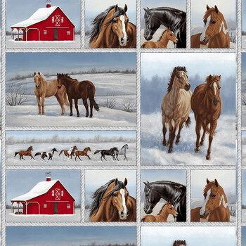 Horse Whisperer 5676-17 Multi Patchwork by Studio E