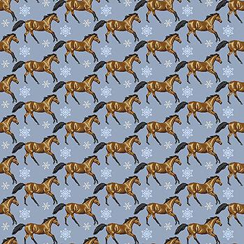 Horse Whisperer 5683-13 Blue Set Horses by Studio E