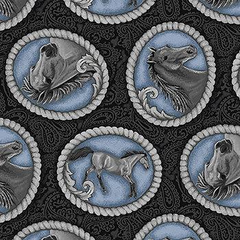 Horse Whisperer 5680-97 Black Tossed Buckles by Studio E
