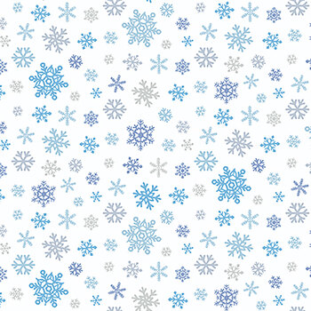 Horse Whisperer 5678-07 Blue Tossed Snowflakes by Studio E