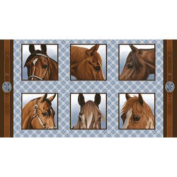 Horse Whisperer 5685-13 Multi Blocks Panel by Studio E