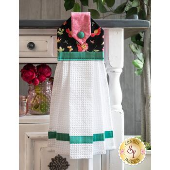 Hanging Towel Kit - Pink Garden - Aqua
