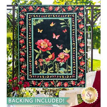 Pink Garden Panel Quilt Kit