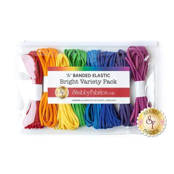"Elastic Variety Pack - 8pk - 1/6"" Banded - Bright Set"