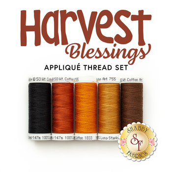 Harvest Blessings Wall Hanging Kit - 5pc Applique Thread Set