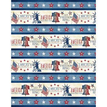 Liberty Lane 84454-243 Repeating Stripe Multi by Wilmington Prints