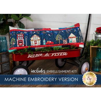 Main Street Celebration Bench Pillow Kit - Machine Embroidery Version
