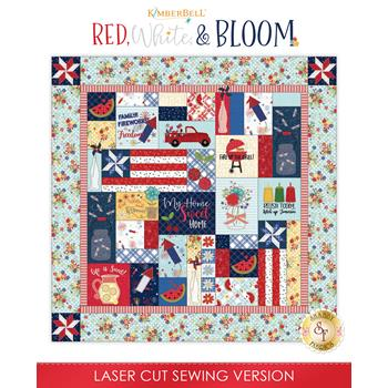 Red, White, & Bloom Quilt Kit - Sewing Version